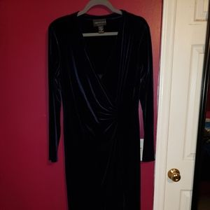 Connected Velvet Evening Dress SZ 16